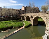 Vic, Old town and Roman bridge, Osona, Barcelona, Spain