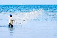 Fisherman at Sea, Coveñas, Gulf of Morrosquillo, Sucre, Sincelejo, Colombia