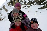 Children in Greenland, Western Greenland, Greenland / Kinder in Grönland, Westgrönland, Grönland
