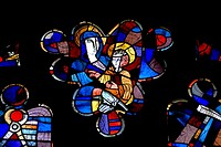 Ingolstadt, Bavaria, Germany. Liebfrauenmunster (Church of Our Lady - 15thC) Modern stained glass window