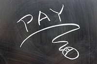 Pay word and mouse sign