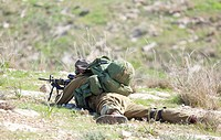 Israeli soldier training
