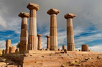 Doric column ruins of the temple of Athena of Assos Behramkale Turkey