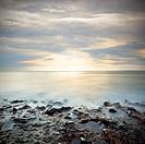 Sundown over sea