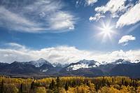 USA, Alaska, View of Chugach Mountains