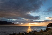 USA, Alaska, Sunset over Turnagain Arm