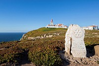 Portugal, View of Cabo da Roca lighthouse at Sintra Cascais Natural Park