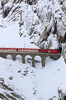 Railway, detail, railroad, rock, rock wall, locomotive, engine, Matterhorn Gotthard, Railway, snow, Switzerland, Europe, Schöllenen, gulch, symbol, de...