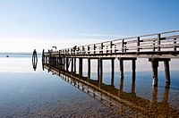 Germany, Bavaria, Jetty in Ammersee