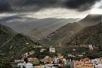 Spain, La Gomera, View of Vallehermoso