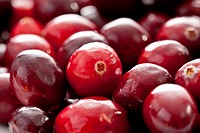 Fresh cranberries, close up, full frame