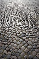 Germany, Cologne, Cobblestone street