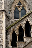 gothic english church close up