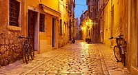 Croatia - Rovinj, Old Town, street on the Old Town in Rovinj, Istria, Croatia