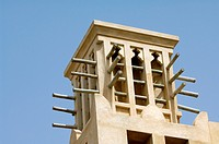 traditional windcatcher structure. dubai. united arab emirates