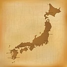 Old Japan Map