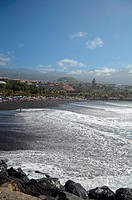 Beautiful beach day in Puerto de la Cruz, Tenerife, Canary Islands