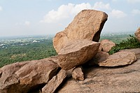 Boulder Outcrops On Arunachala Mountain In Tiruvannamalai, Tamil Nadu, India