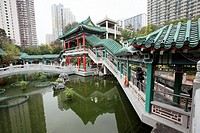 Garden of Wong Tai Sin Temple, Wong Tai Sin district, Kowloon, Hong Kong, China, Asia