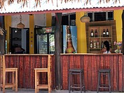 Beach bar near Playa Carryllo, Nicoya Peninsula, Costa Rica, Central America
