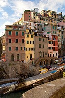 Evening in Riomaggiore, La Spezia, Cinque Terre, Liguria, Italy, Europe