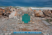 information sign at Cap Agulhas, South Africa, Western Cape, Cap Agulhas, Struisbaai