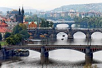 Charles Bridge over the Vltava River in Prague, Czech Republic, Prague