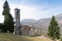 church, brumano, italy