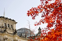Reichstag building, fall, government district, Berlin, Germany Europe