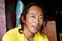 Portrait Of Tibetan Man In Tibetan Refugee Colony In Leh, Ladhak, India