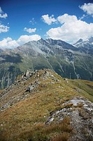 Switzerland, Val d'Anniviers, At the Col de Sorebois; Zinal