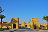 United Arab Emirates, Liwa desert; Abu Dahbi, Qasr al Sarab hotel entrance bridge
