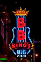 Usa, Tennessee, Neon Lights In Beale Street; Memphis