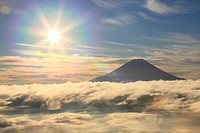 Mount Fuji and sea of clouds