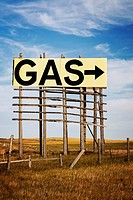 Gas sign and arrow