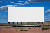 Blank billboard in the middle of nowhere