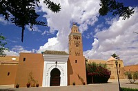 Mosque and minaret of the Koutoubia XII century. Marrakech. Morocco. Maghreb. Africa