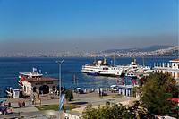 Port in Bueyuekada, looking towards Istanbul, Sea of ??Marmara