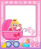 Baby theme frame 5 - picture illustration.
