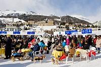 Switzerland, St. Moritz, White turf race, daily life