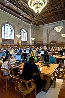 Interior New York Public Library, Manhattan, New York,  United States of America