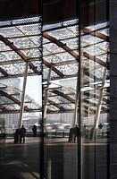Porta Nuova, Gae Aulenti square, reflection, Milan - Italy.