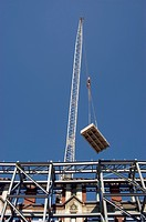 Crane Lifting Construction Material