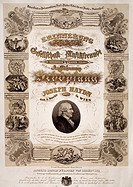 Commemorative poster for Franz Joseph Haydn (1732-1809).