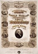 Commemorative poster for Franz Joseph Haydn (1732-1809).  Vienna, Historisches Museum Der Stadt Wien (History Museum)