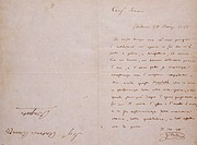 Letter from Giuseppe Verdi to his father-in-law Antonio Barezzi, with a dedication of his opera, Macbeth.  Busseto, Museo Di Casa Barezzi