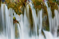 Waterfall at brook, Plitvice Lakes National Park, Lika-Senj, Croatia
