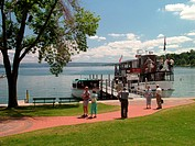 Skaneateles, NY, New York, Finger Lakes Region, Skaneateles Lake, Mid Lakes Navigation Company, excursion, tour boat, The Judge Ben Wiles sightseeing ...