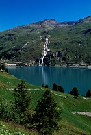 Chevril artificial lake, Rhone-Alpes, France.