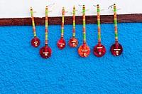 Traditional musical instruments, Kasbah of the Oudayas, Rabat, Morocco.